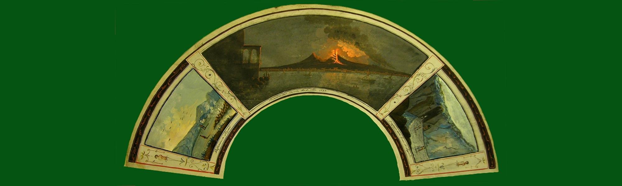 Vesuvio eruzione 17 ottobre 1792-Solfatara di Pozzuoli-Grotta di Pozzuoli