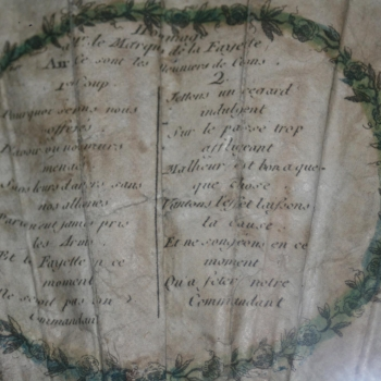 Hommage  a M.r le marquise dè la Fayette