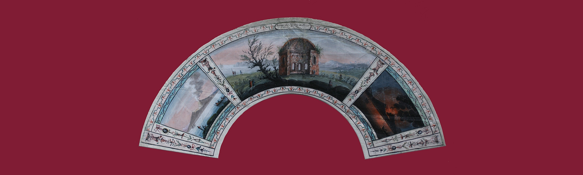 Vesuvio eruzione 1785-Tempio di Diana Pozzuoli-